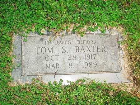 BAXTER, TOM S. - Benton County, Arkansas   TOM S. BAXTER - Arkansas Gravestone Photos