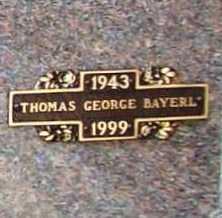 BAYERL, THOMAS GEORGE - Benton County, Arkansas   THOMAS GEORGE BAYERL - Arkansas Gravestone Photos