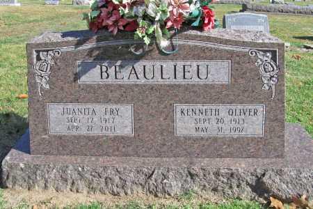 BEAULIEU, KENNETH OLIVER - Benton County, Arkansas | KENNETH OLIVER BEAULIEU - Arkansas Gravestone Photos