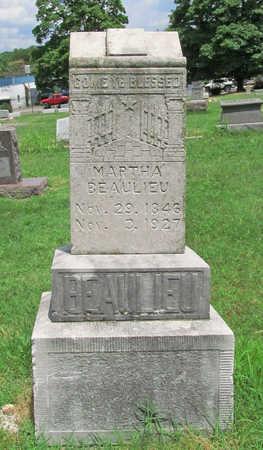 BEAULIEU, MARTHA - Benton County, Arkansas   MARTHA BEAULIEU - Arkansas Gravestone Photos