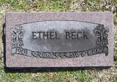 BECK, ETHEL - Benton County, Arkansas | ETHEL BECK - Arkansas Gravestone Photos