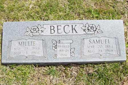 BECK, MILLIE - Benton County, Arkansas | MILLIE BECK - Arkansas Gravestone Photos