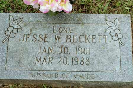 BECKETT, JESSE W - Benton County, Arkansas | JESSE W BECKETT - Arkansas Gravestone Photos