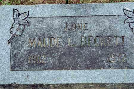 BECKETT, MAUDE L. - Benton County, Arkansas | MAUDE L. BECKETT - Arkansas Gravestone Photos
