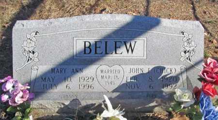 BELEW, JOHN F. (CHICK) - Benton County, Arkansas | JOHN F. (CHICK) BELEW - Arkansas Gravestone Photos