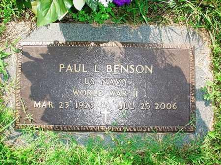 BENSON (VETERAN WWII), PAUL L. - Benton County, Arkansas | PAUL L. BENSON (VETERAN WWII) - Arkansas Gravestone Photos