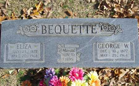 BEQUETTE, GEORGE WALTER - Benton County, Arkansas   GEORGE WALTER BEQUETTE - Arkansas Gravestone Photos