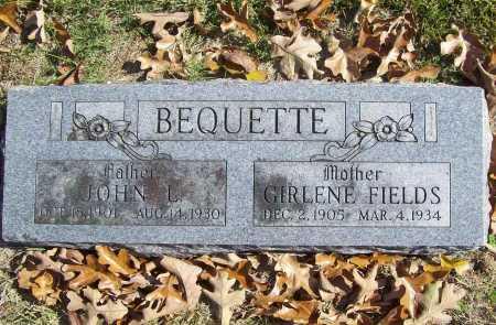 BEQUETTE, AMANDA GIRLENA - Benton County, Arkansas   AMANDA GIRLENA BEQUETTE - Arkansas Gravestone Photos