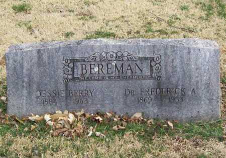 BEREMAN, DR. FREDERICK A. - Benton County, Arkansas | DR. FREDERICK A. BEREMAN - Arkansas Gravestone Photos