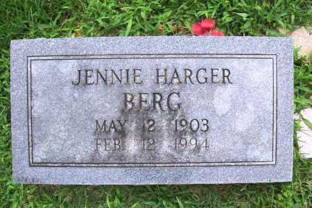 HARGER BERG, JENNIE - Benton County, Arkansas | JENNIE HARGER BERG - Arkansas Gravestone Photos