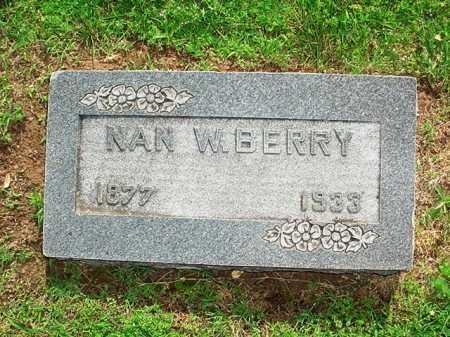 BERRY, NAN W. - Benton County, Arkansas   NAN W. BERRY - Arkansas Gravestone Photos