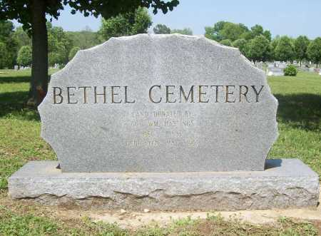 *BETHEL CEMETERY SIGN,  - Benton County, Arkansas |  *BETHEL CEMETERY SIGN - Arkansas Gravestone Photos
