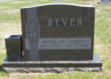 CHERRY BEVER, WINNIE LOU - Benton County, Arkansas | WINNIE LOU CHERRY BEVER - Arkansas Gravestone Photos