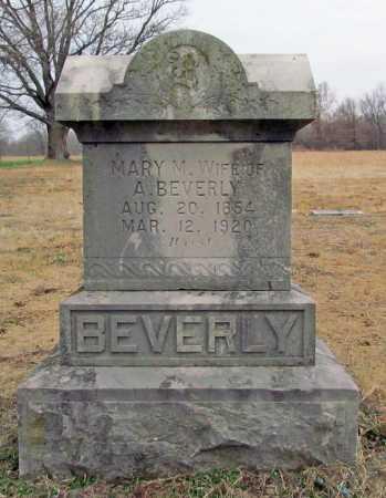 BEVERLY, MARY M. - Benton County, Arkansas | MARY M. BEVERLY - Arkansas Gravestone Photos