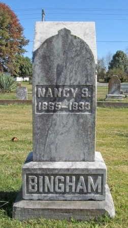 BINGHAM, NANCY S - Benton County, Arkansas   NANCY S BINGHAM - Arkansas Gravestone Photos