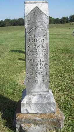 BIRD, MARSHALL (ORIGINAL) - Benton County, Arkansas | MARSHALL (ORIGINAL) BIRD - Arkansas Gravestone Photos
