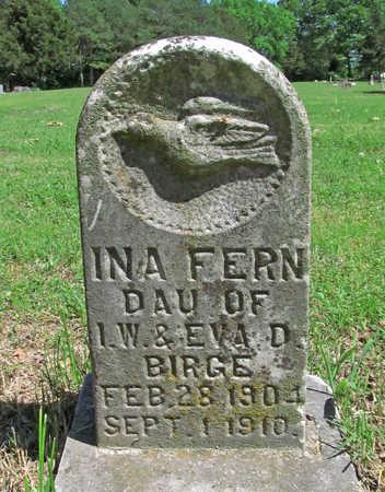 BIRGE, INA FERN - Benton County, Arkansas | INA FERN BIRGE - Arkansas Gravestone Photos