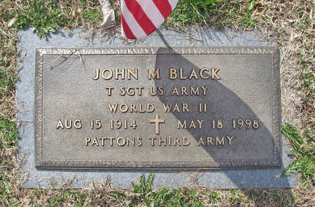 BLACK (VETERAN WWII), JOHN M - Benton County, Arkansas | JOHN M BLACK (VETERAN WWII) - Arkansas Gravestone Photos