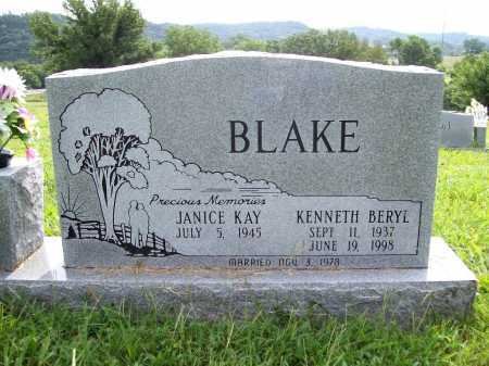 BLAKE, KENNETH BERYL - Benton County, Arkansas | KENNETH BERYL BLAKE - Arkansas Gravestone Photos