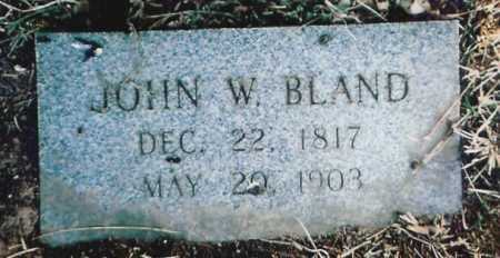 BLAND (VETERAN CSA), JOHN WILLIAM - Benton County, Arkansas | JOHN WILLIAM BLAND (VETERAN CSA) - Arkansas Gravestone Photos