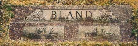 BLAND, H. E. - Benton County, Arkansas | H. E. BLAND - Arkansas Gravestone Photos