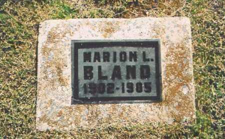 BLAND, MARION L. - Benton County, Arkansas   MARION L. BLAND - Arkansas Gravestone Photos