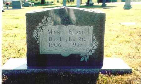 BLAND, MINNIE - Benton County, Arkansas | MINNIE BLAND - Arkansas Gravestone Photos