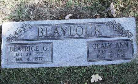 BLAYLOCK, GEALY ANN - Benton County, Arkansas | GEALY ANN BLAYLOCK - Arkansas Gravestone Photos