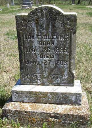 BLEVINS, ADA E. - Benton County, Arkansas | ADA E. BLEVINS - Arkansas Gravestone Photos