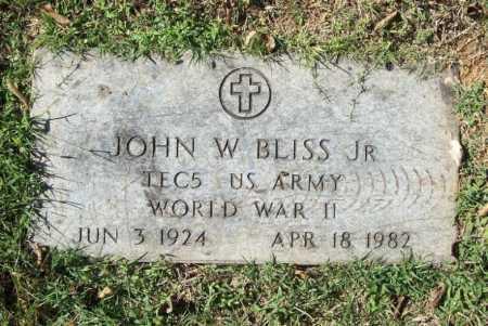 BLISS, JR (VETERAN WWII), JOHN WILLARD - Benton County, Arkansas | JOHN WILLARD BLISS, JR (VETERAN WWII) - Arkansas Gravestone Photos