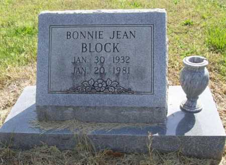 BLOCK, BONNIE JEAN - Benton County, Arkansas | BONNIE JEAN BLOCK - Arkansas Gravestone Photos