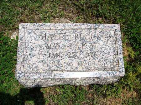 BLOCK, HAZEL - Benton County, Arkansas   HAZEL BLOCK - Arkansas Gravestone Photos