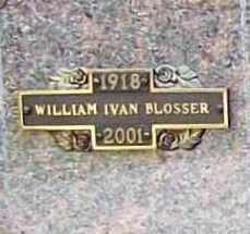 BLOSSER, WILLIAM IVAN - Benton County, Arkansas | WILLIAM IVAN BLOSSER - Arkansas Gravestone Photos