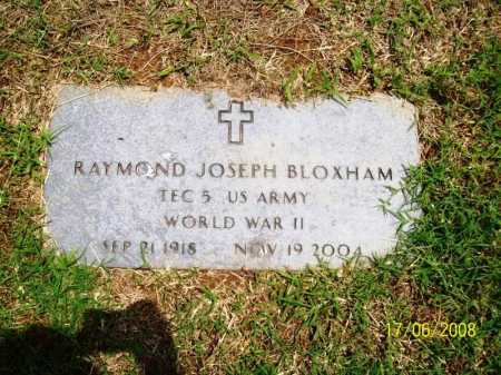 BLOXHAM (VETERAN WWII), RAYMOND JOSEPH - Benton County, Arkansas | RAYMOND JOSEPH BLOXHAM (VETERAN WWII) - Arkansas Gravestone Photos