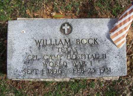BOCK (VETERAN WWI), WILLIAM - Benton County, Arkansas   WILLIAM BOCK (VETERAN WWI) - Arkansas Gravestone Photos