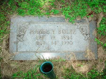 BOLTZ, HAZEL Y. - Benton County, Arkansas   HAZEL Y. BOLTZ - Arkansas Gravestone Photos