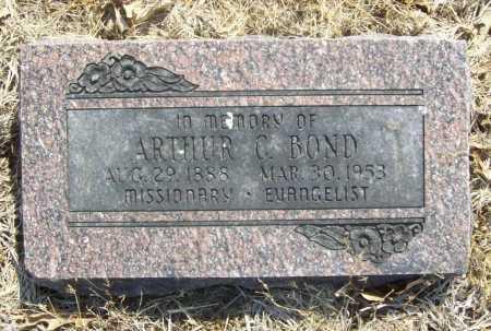 BOND, ARTHUR C. - Benton County, Arkansas | ARTHUR C. BOND - Arkansas Gravestone Photos