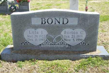 BOND, BURTON C. - Benton County, Arkansas | BURTON C. BOND - Arkansas Gravestone Photos