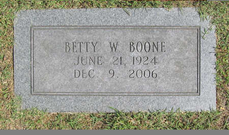 WATKINS BOONE, BETTY W - Benton County, Arkansas | BETTY W WATKINS BOONE - Arkansas Gravestone Photos
