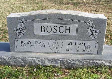 BOSCH (VETERAN), WILLIAM E - Benton County, Arkansas | WILLIAM E BOSCH (VETERAN) - Arkansas Gravestone Photos