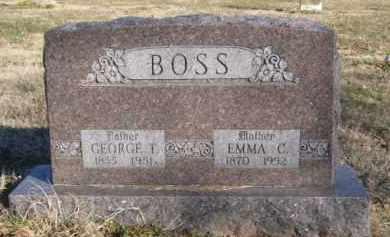 BOSS, GEORGE T. - Benton County, Arkansas | GEORGE T. BOSS - Arkansas Gravestone Photos