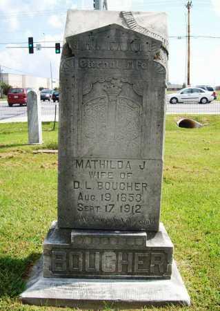 BOUCHER, MATHILDA J - Benton County, Arkansas | MATHILDA J BOUCHER - Arkansas Gravestone Photos