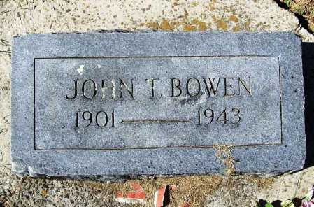 BOWEN, JOHN T. - Benton County, Arkansas | JOHN T. BOWEN - Arkansas Gravestone Photos