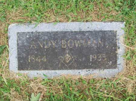 BOWMAN, ANDY - Benton County, Arkansas | ANDY BOWMAN - Arkansas Gravestone Photos