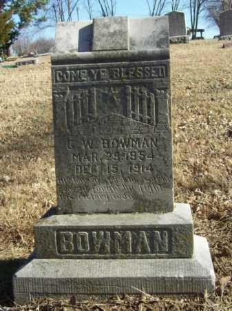 BOWMAN, G. W. - Benton County, Arkansas   G. W. BOWMAN - Arkansas Gravestone Photos