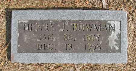 BOWMAN, HENRY J. - Benton County, Arkansas | HENRY J. BOWMAN - Arkansas Gravestone Photos