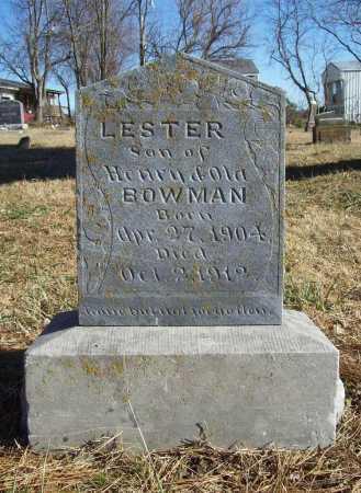 BOWMAN, LESTER - Benton County, Arkansas | LESTER BOWMAN - Arkansas Gravestone Photos