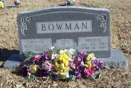 BOWMAN, MILTON - Benton County, Arkansas | MILTON BOWMAN - Arkansas Gravestone Photos