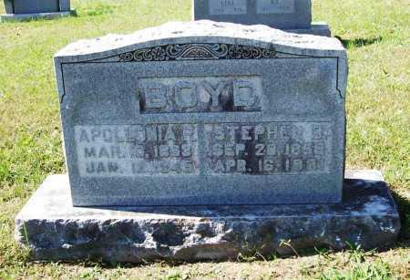 BOYD, STEPHEN D. - Benton County, Arkansas   STEPHEN D. BOYD - Arkansas Gravestone Photos