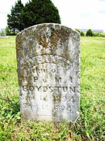 BOYDSTON, INFANT DAUGHTER - Benton County, Arkansas | INFANT DAUGHTER BOYDSTON - Arkansas Gravestone Photos